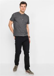 Henley shirt in washed out look, korte mouw, John Baner JEANSWEAR