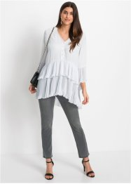 Lange blouse met volants, bpc selection
