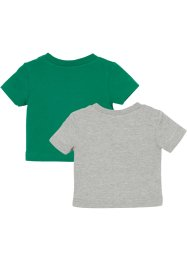 Baby shirt (set van 2) biologisch katoen, bpc bonprix collection