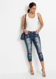 Capri jeans met borduursel, BODYFLIRT boutique