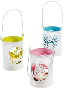 Windlicht (3-dlg. set), bpc living, wit/multicolor