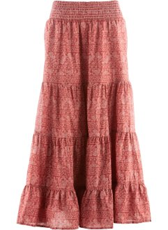 Rok, bpc bonprix collection, marsala/wit gedessineerd