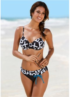 Beugel bikinitop, bpc bonprix collection, zwart/wit