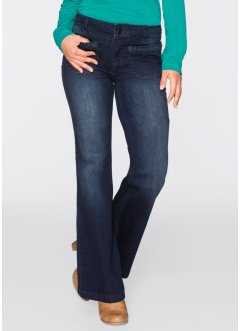Stretchjeans FLARED, John Baner JEANSWEAR, donkerblauw