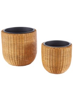 Bloempot «Lina» (2-dlg. set), bpc living, naturel