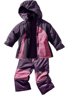 Skipak (2-dlg.), bpc bonprix collection, prune/mat roze