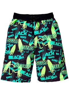 Zwemshort, bpc bonprix collection, zwart gedessineerd
