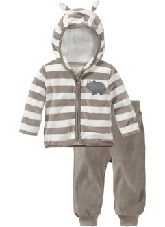 Babypakje (2-dlg.), bpc bonprix collection, ecru/taupe
