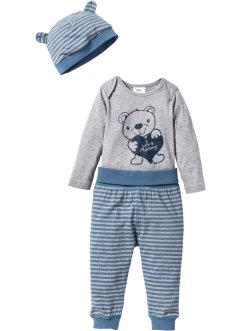 Rompertje+shirtbroek+mutsje (3-dlg. set), bpc bonprix collection
