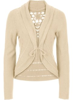 Gebreid vest, BODYFLIRT boutique, beige