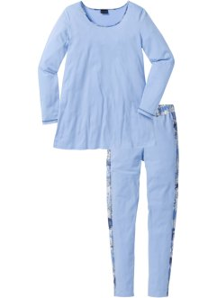Pyjama (2-dlg. set), bpc selection, blauw gedessineerd