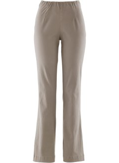Stretchbroek «bootcut», bpc bonprix collection, taupe