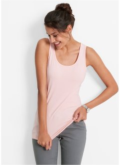 Tanktop (set van 2), bpc bonprix collection, parelroze+wit