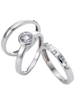 Ring (3-dlg. set), bpc bonprix collection, zilverkleur