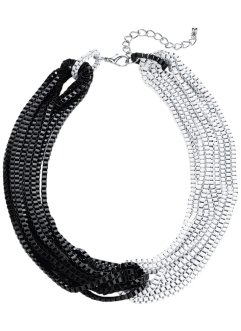 Collier, bpc bonprix collection, zwart/wit