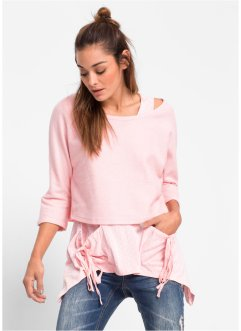 Sweatshirt+top (2-dlg. set), RAINBOW, zacht roze