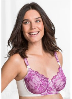 Voedingsbeha met beugels, bpc bonprix collection, violet/ecru