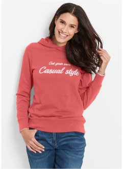 Sweatshirt, bpc bonprix collection, koraal met print