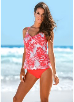 Tankini (2-dlg. set), bpc selection, kreeftrood/wit