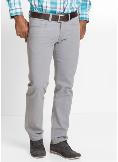 Stretchjeans regular fit straight, bpc selection, lichtgrijs
