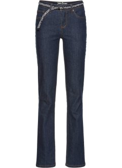 Stretchjeans+riem STRAIGHT, John Baner JEANSWEAR
