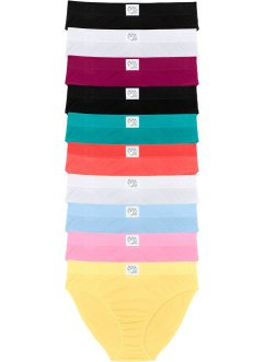 Slip (set van 10), bpc bonprix collection, multicolor/pastel