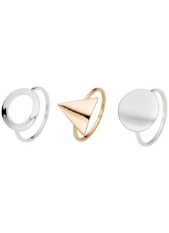 Ring (3-dlg. set), bpc bonprix collection