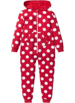 Onesie, bpc bonprix collection, rood/wit gestippeld