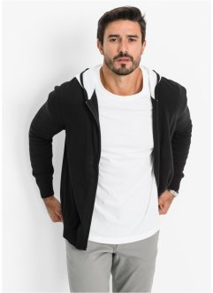 Gebreid vest, bpc bonprix collection, zwart/wit