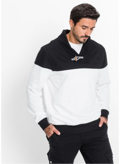 Sweatshirt, bpc bonprix collection, zwart/wit