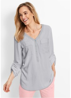 Blouse, bpc bonprix collection, mat zilverkleur