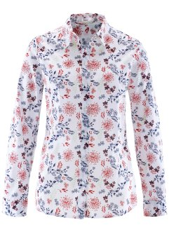 Blouse, bpc bonprix collection, wit gebloemd