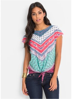 Shirt, BODYFLIRT, wolwit/multicolor