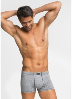 Boxershort (set van 3), bpc bonprix collection, donkerblauw/wit gemêleerd