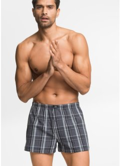 Geweven boxershort (set van 3), bpc bonprix collection, geruit