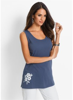 Top, bpc selection, indigo/wit