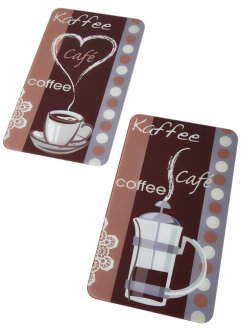 Fornuisafdekplaten «Koffie-aroma» (2-dlg. set), bpc living bonprix collection
