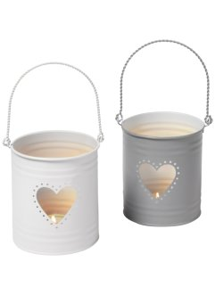 Windlicht «Hart» (2-dlg. set), bpc living