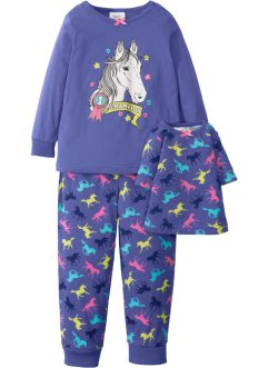 Pyjama+poppennachthemd (3-dlg. set), bpc bonprix collection