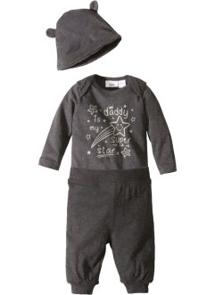 Rompertje+broek+muts (3-dlg. set), bpc bonprix collection
