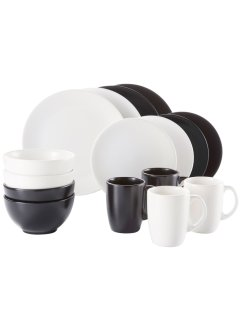 Servies «Black & White» (16-dlg. set), bpc living