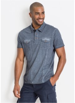 Poloshirt in gewassen look, bpc bonprix collection