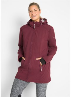 Lange softshell jas met teddyfleece, bpc bonprix collection