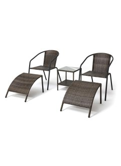 Tuinstoelen «Mattis» (5-dlg. set), bpc living bonprix collection