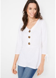 Jersey shirt met knoopsluiting, bpc bonprix collection