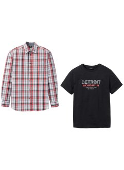 Overhemd+T-shirt (2-dlg. set), bpc bonprix collection