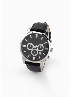 Chronograaf met leren bandje, bpc bonprix collection