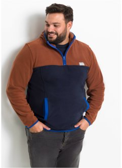 Fleece trui met capuchon, slim fit, RAINBOW