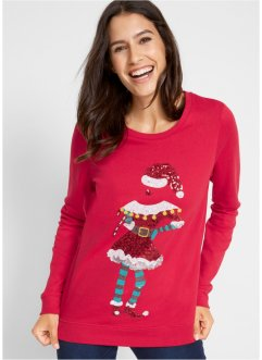 Sweater met kerstmotief, bpc bonprix collection