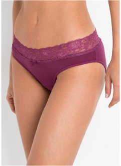 Slip met kant (set van 5), bpc bonprix collection